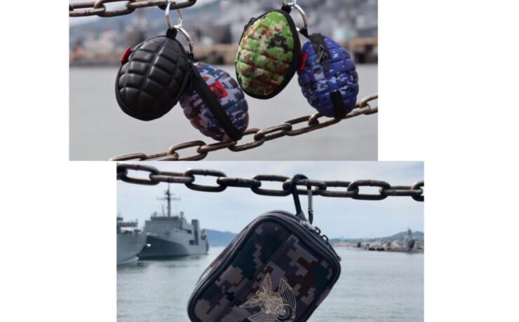 手榴弾コイン&キーケースとスマホポーチ 自衛隊グッズ