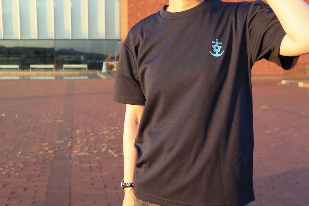 イージス艦Tシャツフロント着用